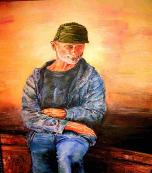 Old Man.  Oil on canvas
